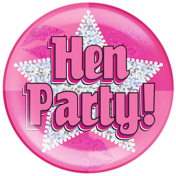 Hen Party Holographic Jumbo Badge